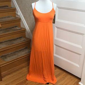 Orange Calvin Klein Maxi Dress. Size 6